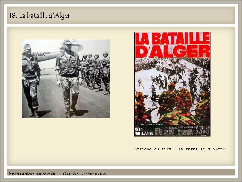 18. La bataille d'Alger Affiche du film – la bataille d'Alger