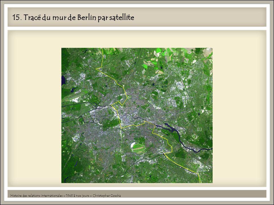 15. Tracé du mur de Berlin par satellite