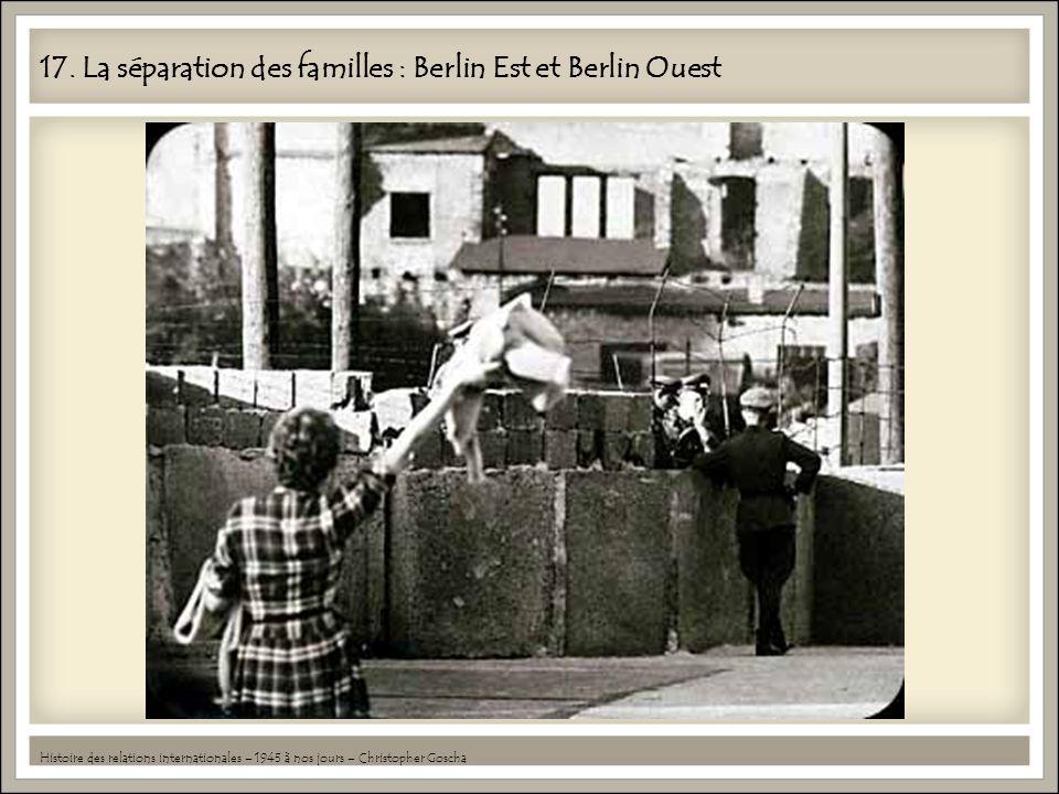 17. La séparation des familles : Berlin Est et Berlin Ouest