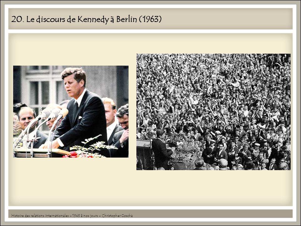 20. Le discours de Kennedy à Berlin (1963)