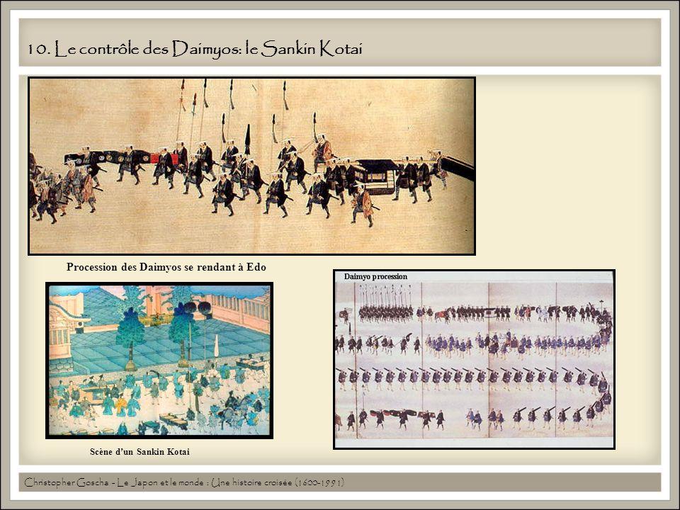 10. Le contrôle des Daimyos: le Sankin Kotai