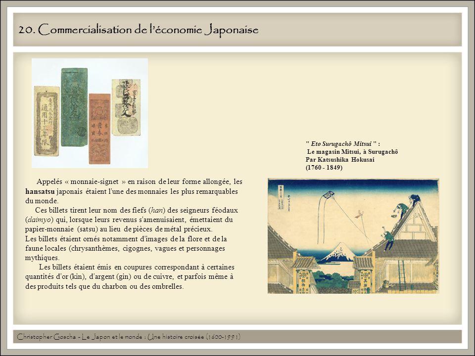 20. Commercialisation de l'économie Japonaise