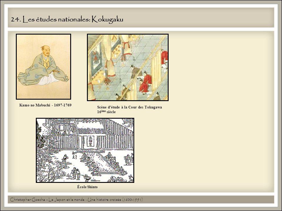 24. Les études nationales: Kokugaku