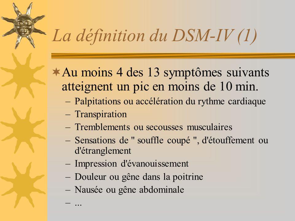 La définition du DSM-IV (1)