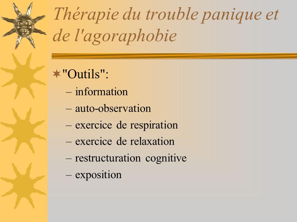 Thérapie du trouble panique et de l agoraphobie
