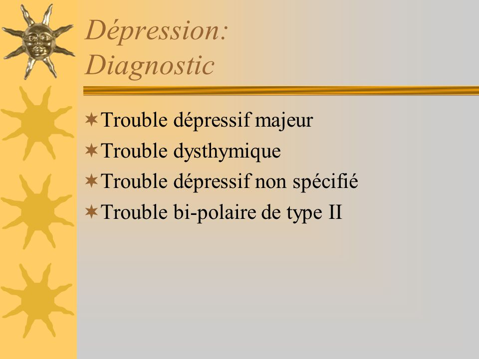 Dépression: Diagnostic