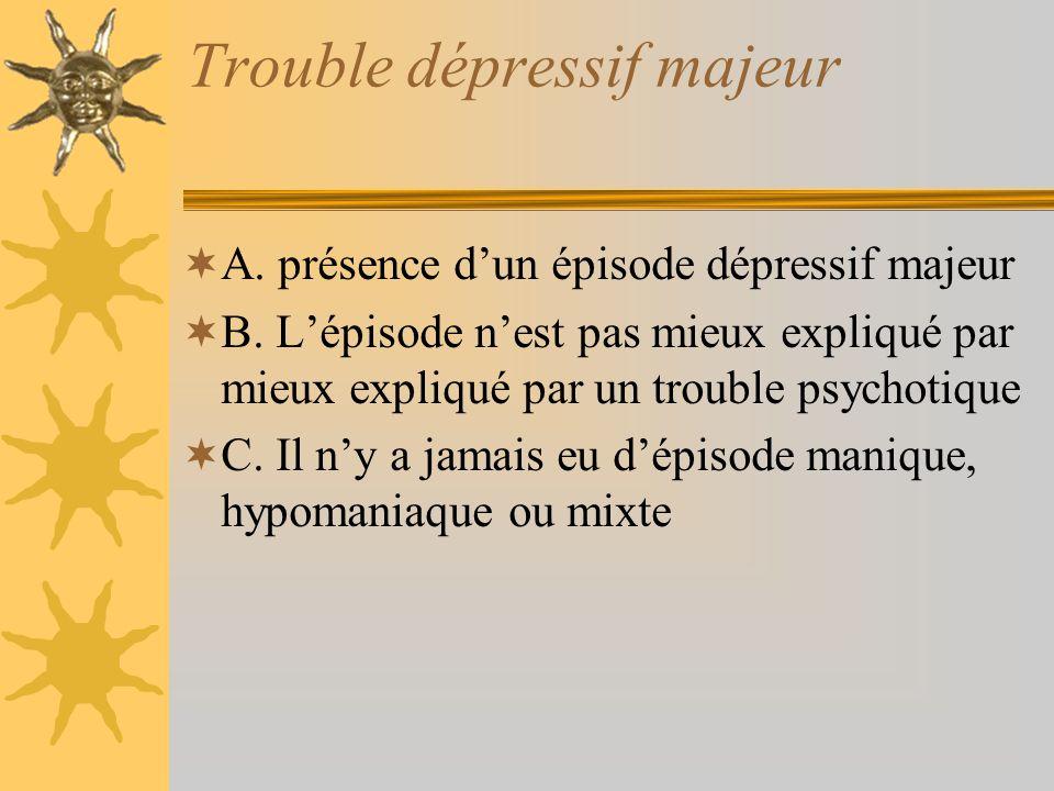 Trouble dépressif majeur