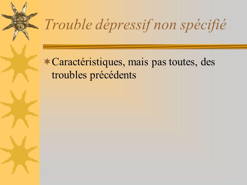 Trouble dépressif non spécifié