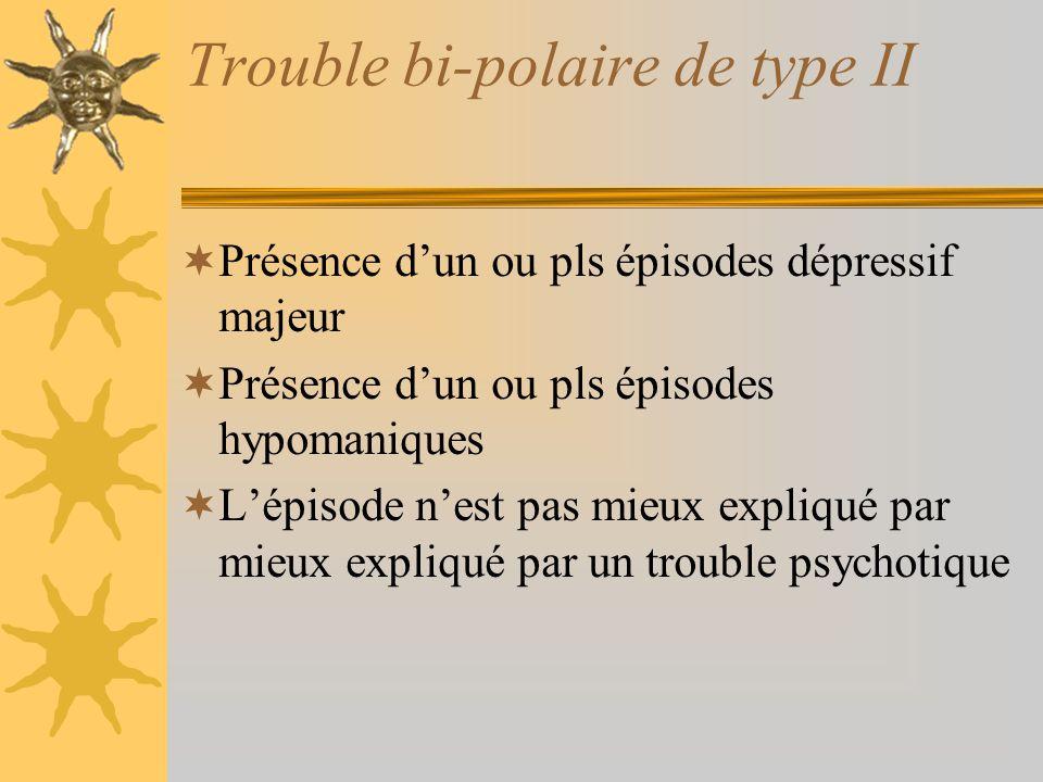 Trouble bi-polaire de type II