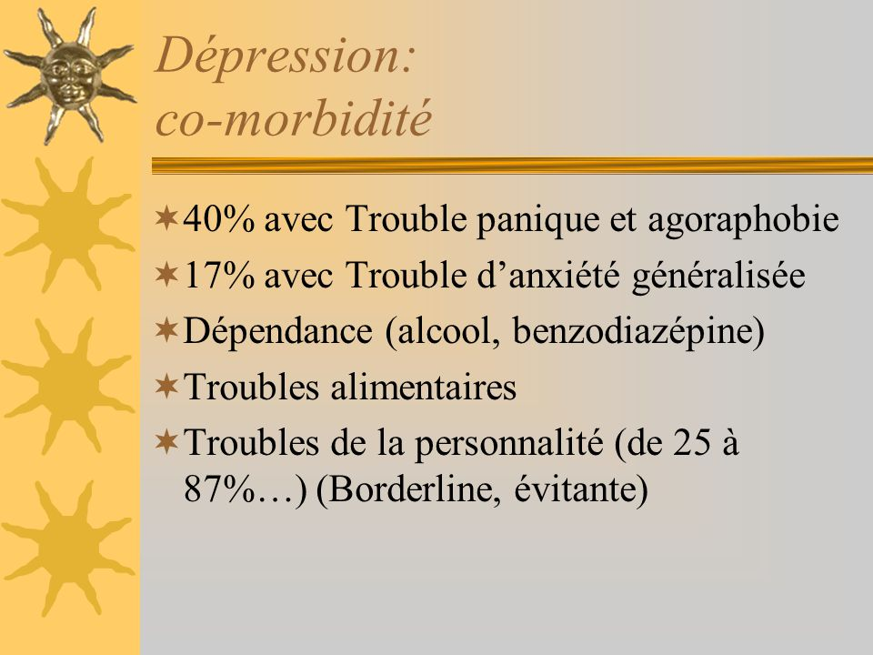 Dépression: co-morbidité