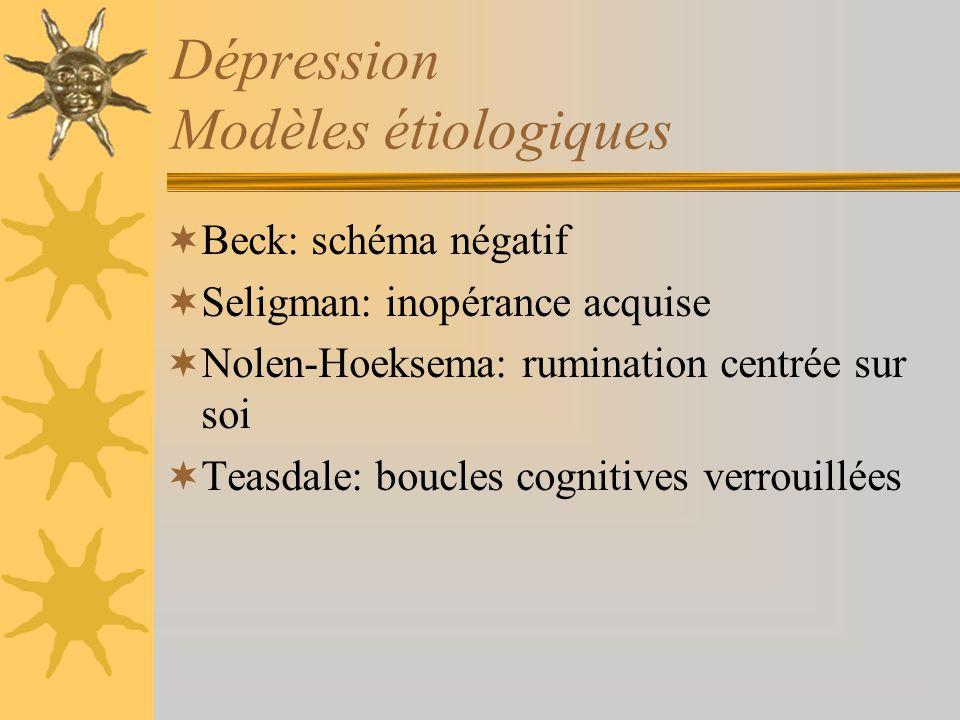 Dépression Modèles étiologiques