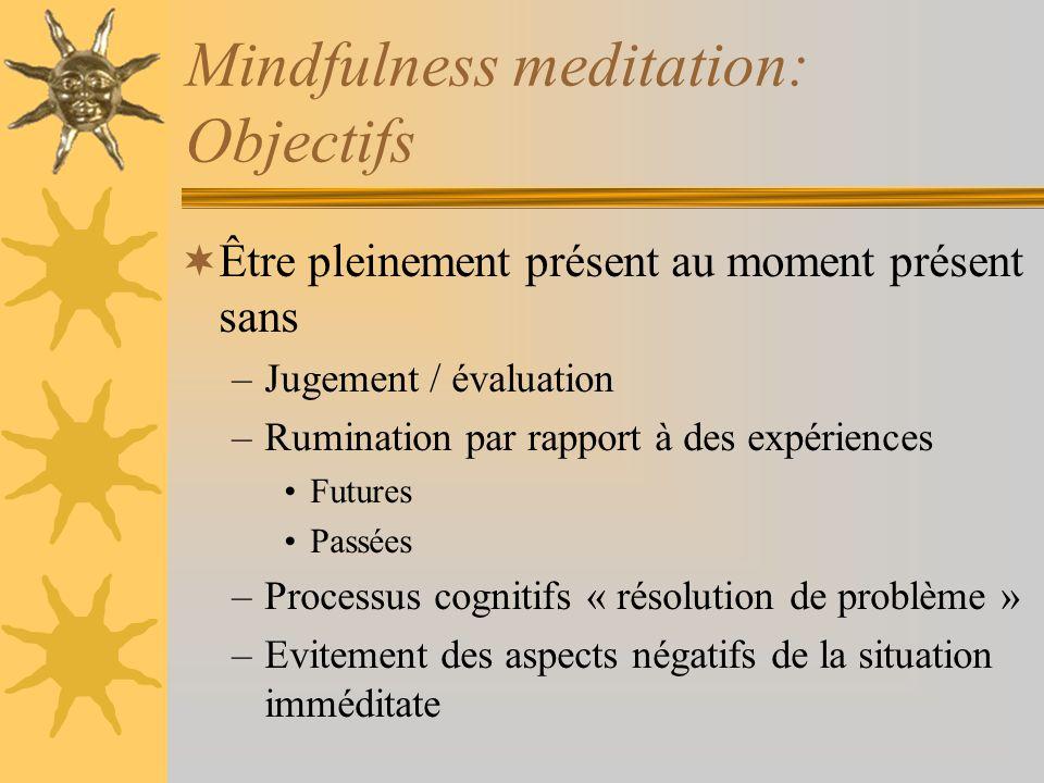 Mindfulness meditation: Objectifs