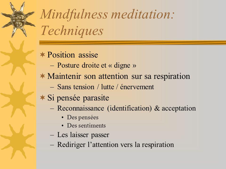 Mindfulness meditation: Techniques
