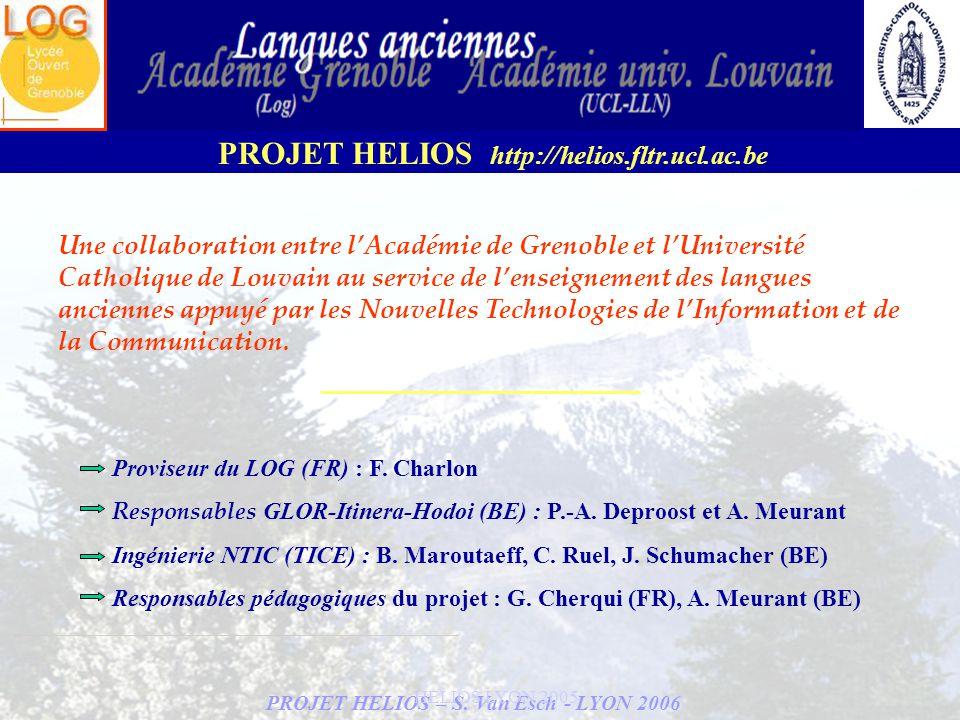 Une collaboration entre l'Académie de Grenoble et l'Université Catholique de Louvain au service de l'enseignement des langues anciennes appuyé par les Nouvelles Technologies de l'Information et de la Communication.