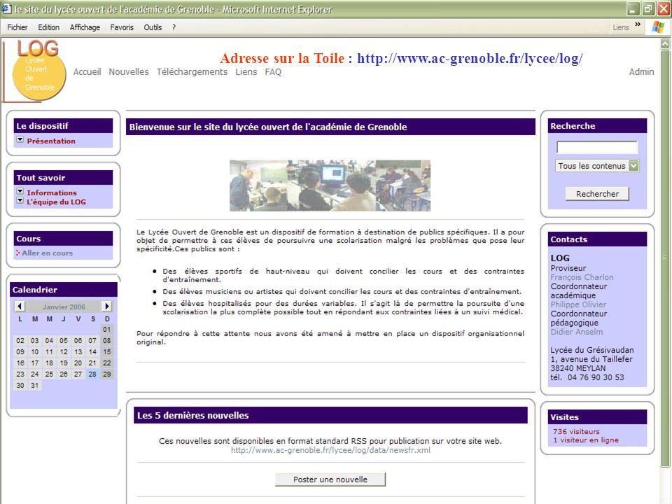 Adresse sur la Toile : http://www.ac-grenoble.fr/lycee/log/
