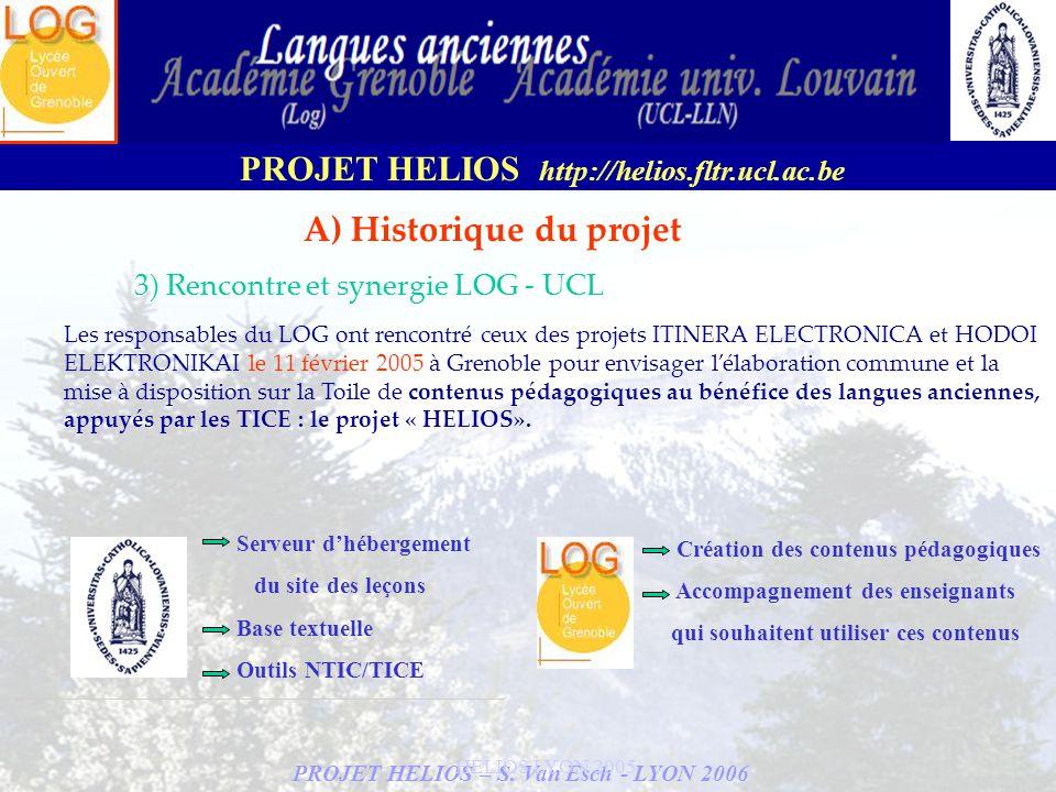 A) Historique du projet