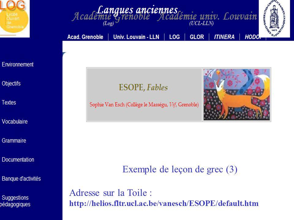 Exemple de leçon de grec (3)