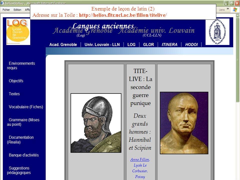 Exemple de leçon de latin (2)