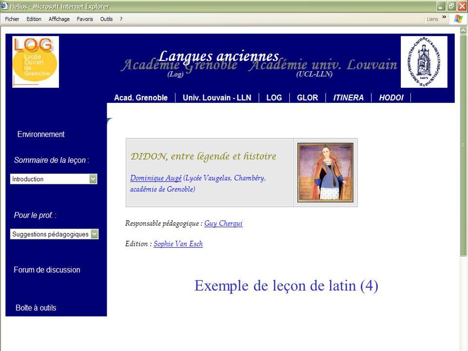 Exemple de leçon de latin (4)