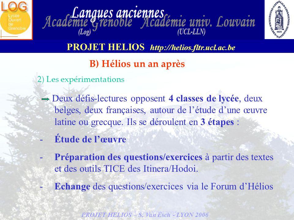 Echange des questions/exercices via le Forum d'Hélios