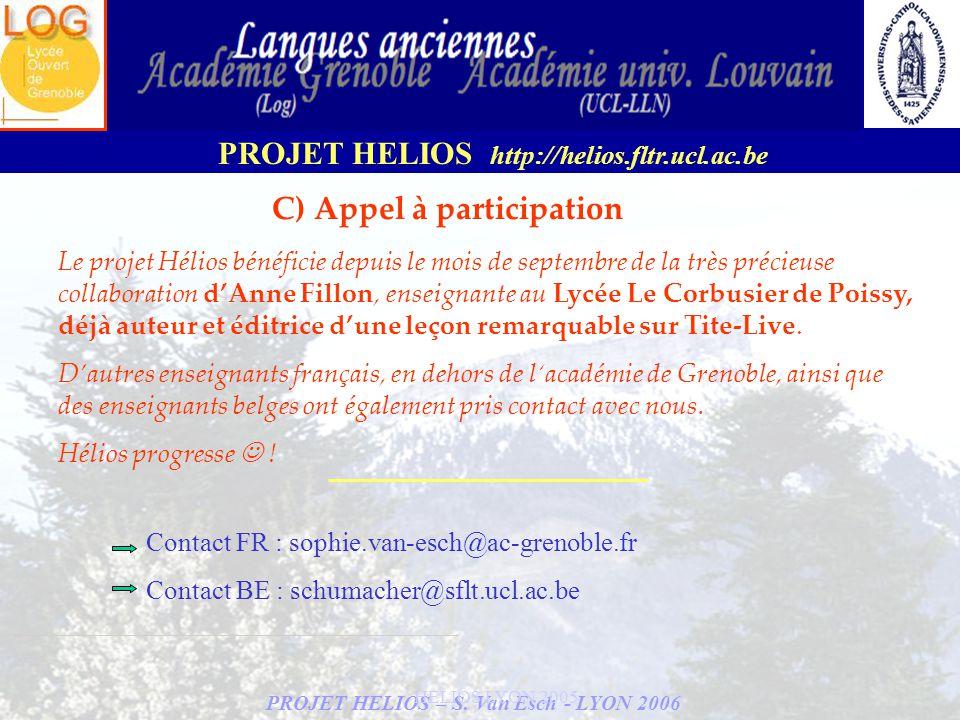 C) Appel à participation
