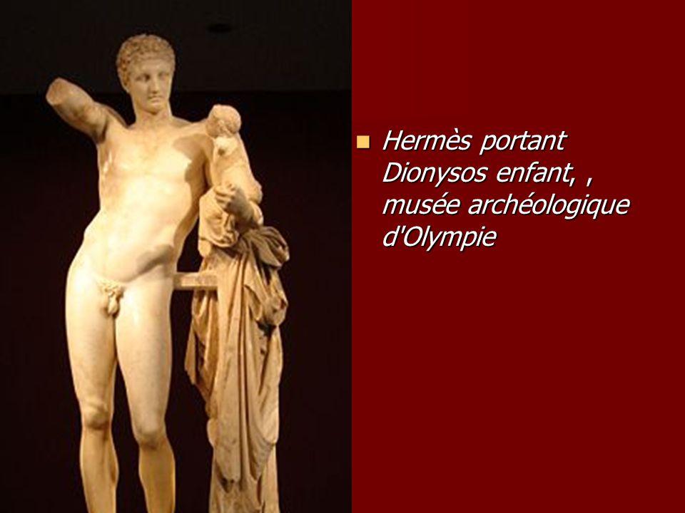 Hermès portant Dionysos enfant, , musée archéologique d Olympie