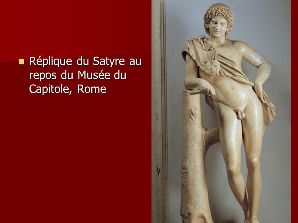 Réplique du Satyre au repos du Musée du Capitole, Rome