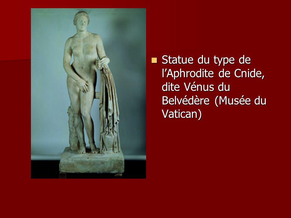 Statue du type de l'Aphrodite de Cnide, dite Vénus du Belvédère (Musée du Vatican)