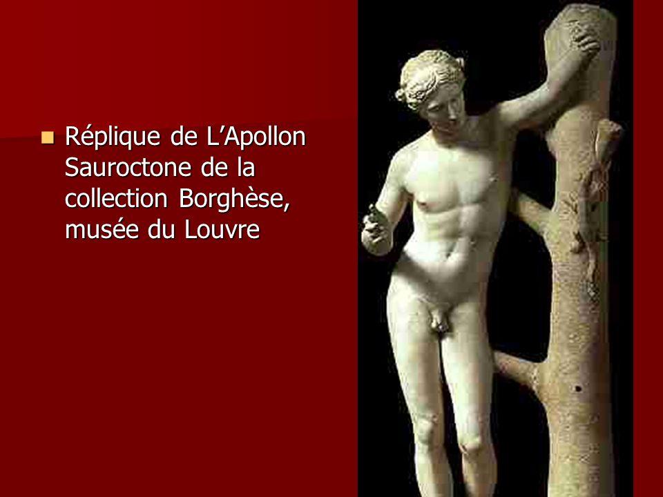 Réplique de L'Apollon Sauroctone de la collection Borghèse, musée du Louvre