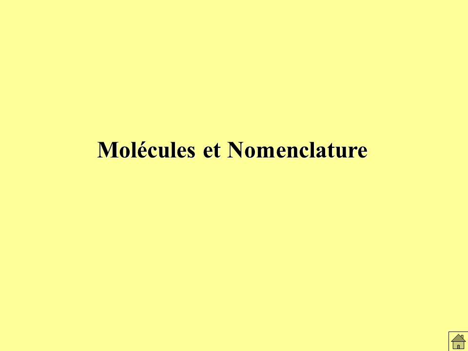Molécules et nomenclature