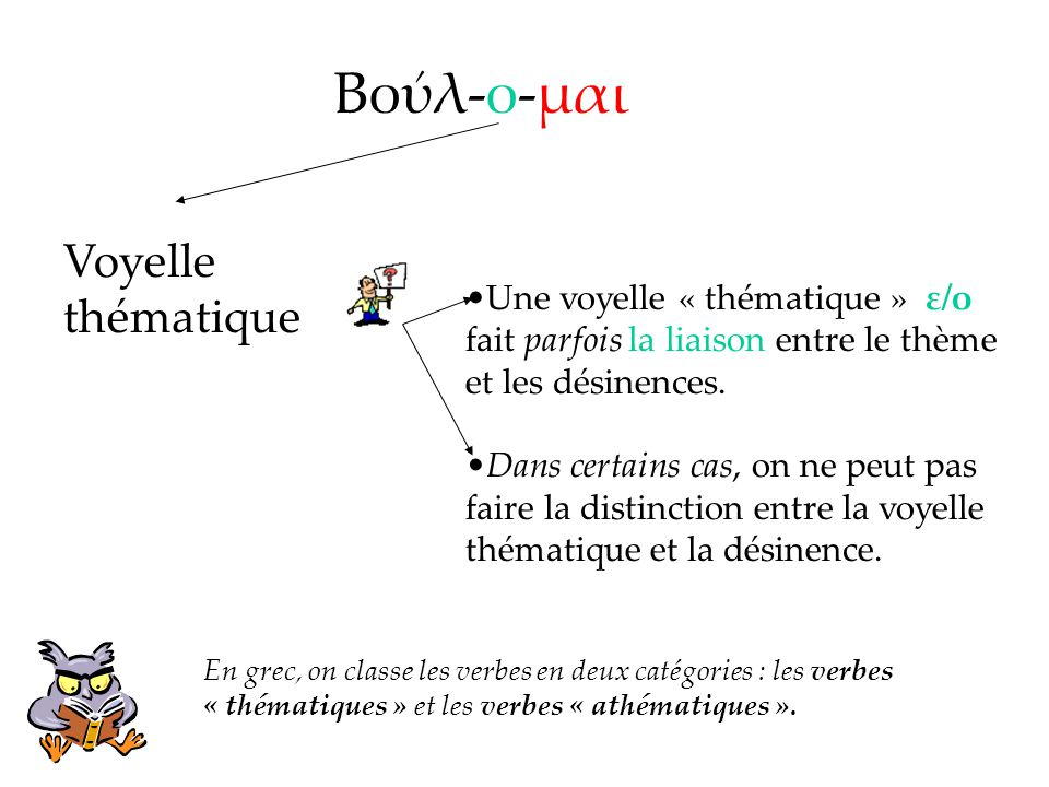 Βούλ-ο-μαι Voyelle thématique