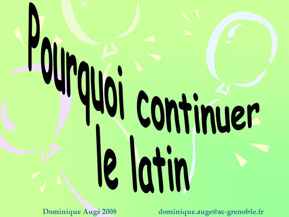 Pourquoi continuer le latin