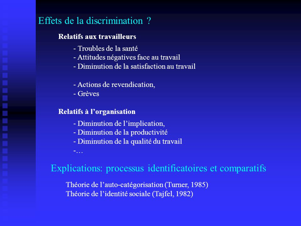 Effets de la discrimination