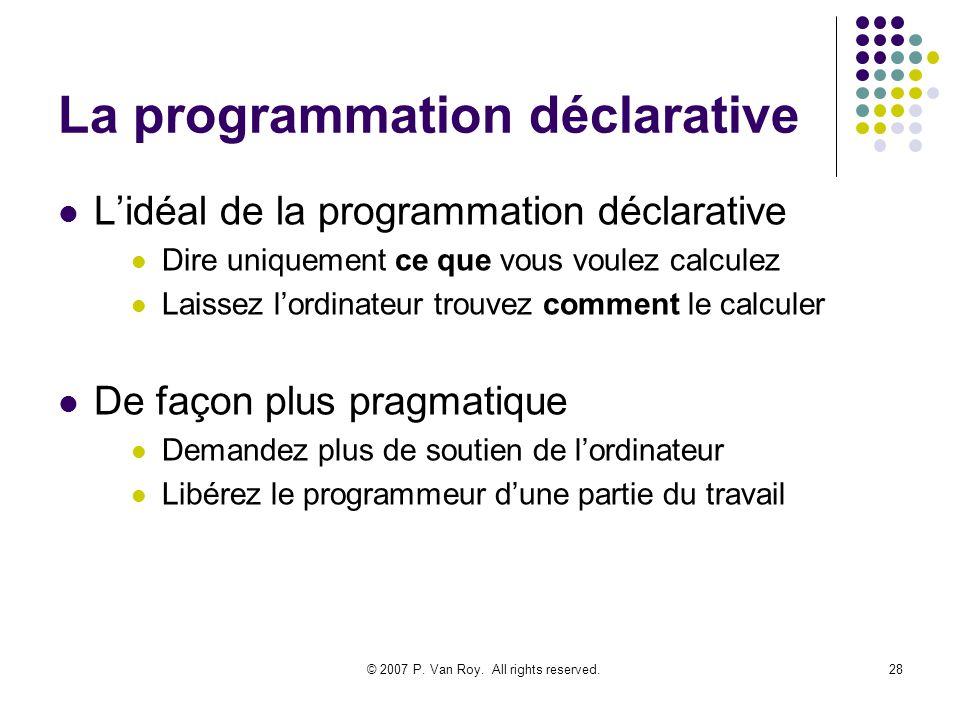 La programmation déclarative