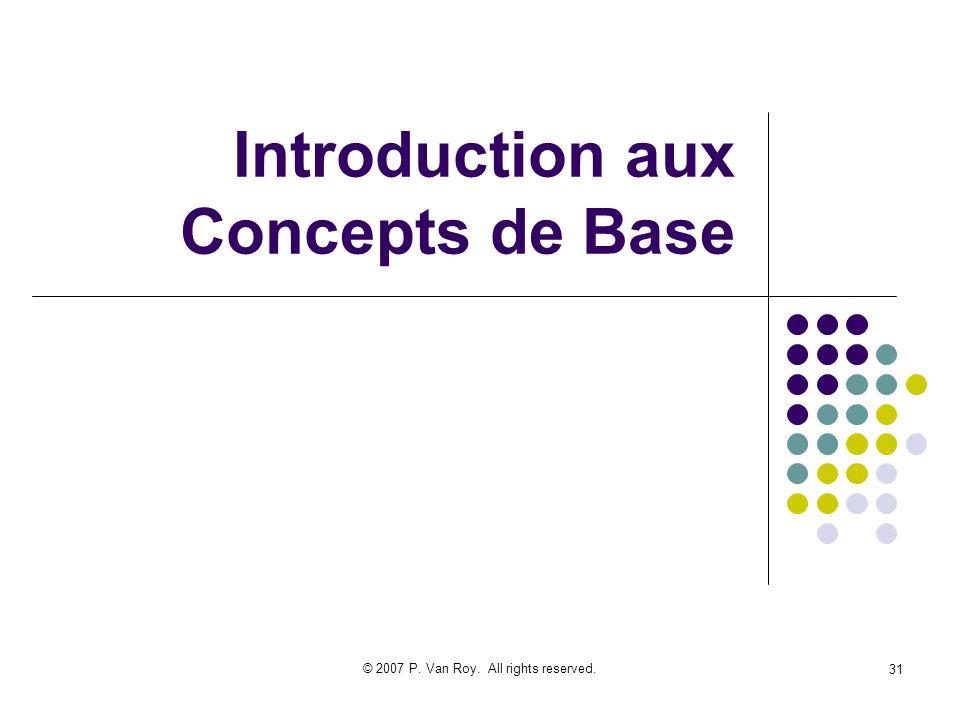 Introduction aux Concepts de Base