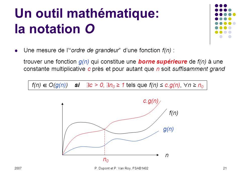 Un outil mathématique: la notation O