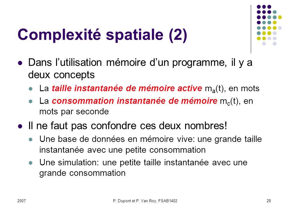 Complexité spatiale (2)