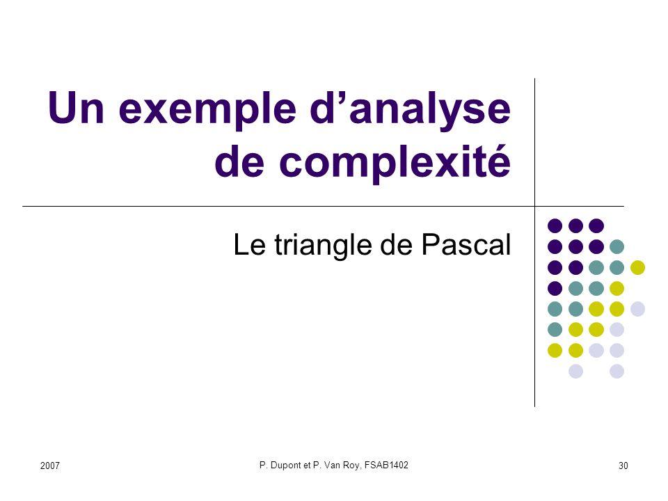 Un exemple d'analyse de complexité