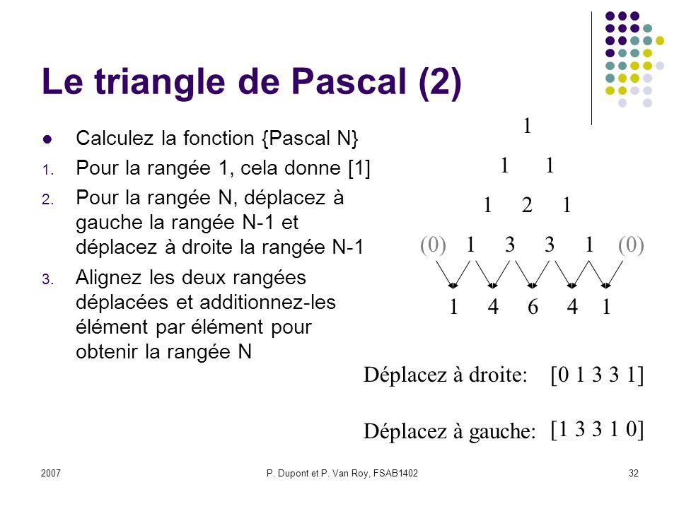 Le triangle de Pascal (2)