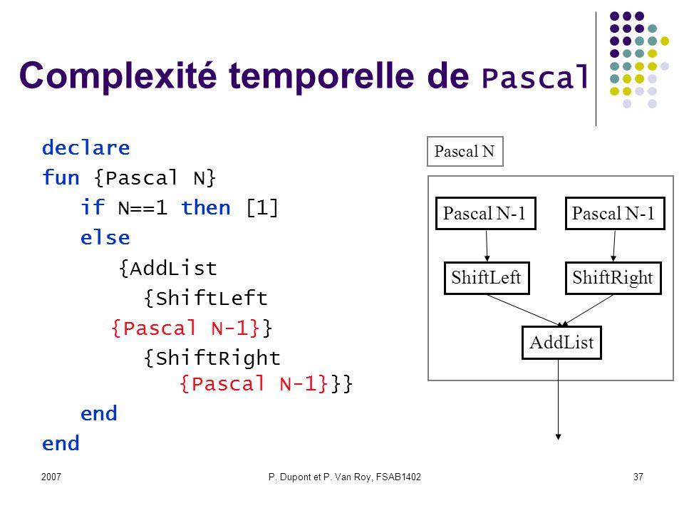 Complexité temporelle de Pascal