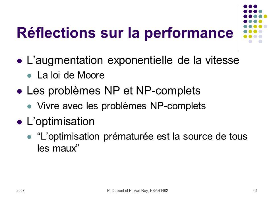 Réflections sur la performance