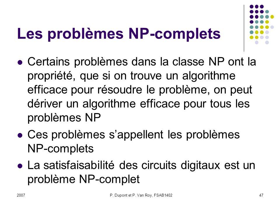 Les problèmes NP-complets