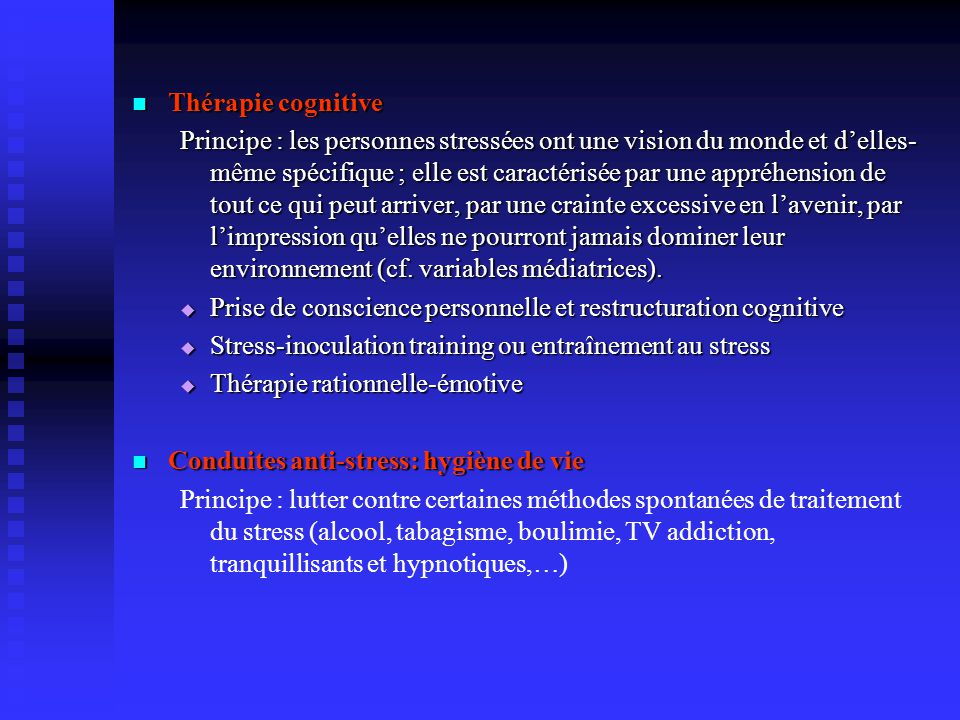 Thérapie cognitive