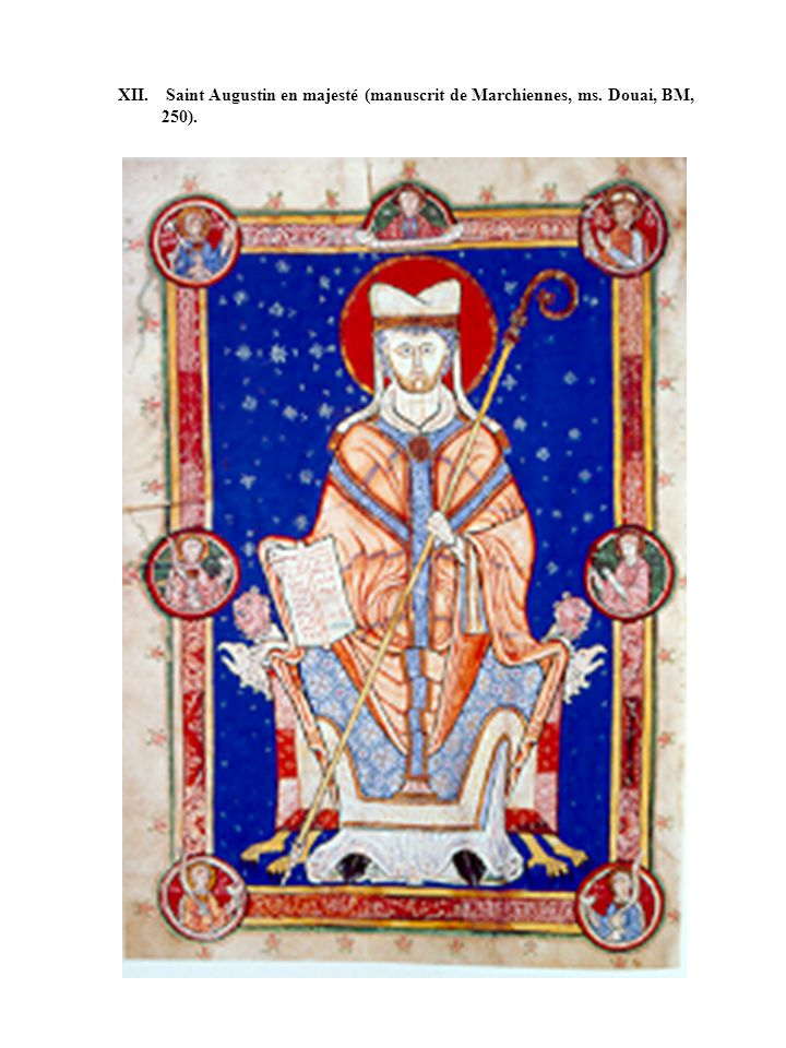 XII. Saint Augustin en majesté (manuscrit de Marchiennes, ms