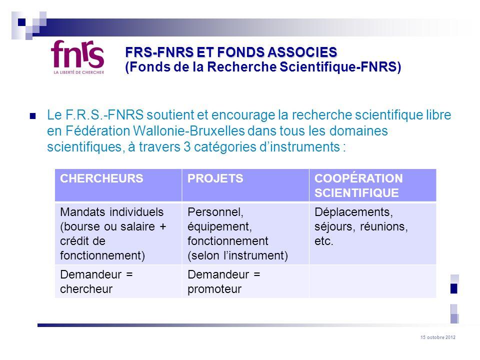 FRS-FNRS ET FONDS ASSOCIES (Fonds de la Recherche Scientifique-FNRS)