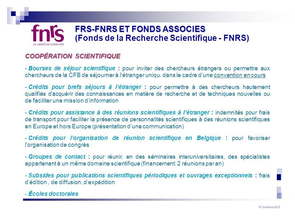 FRS-FNRS ET FONDS ASSOCIES (Fonds de la Recherche Scientifique - FNRS)