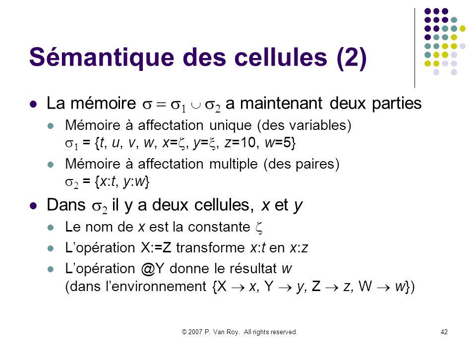 Sémantique des cellules (2)
