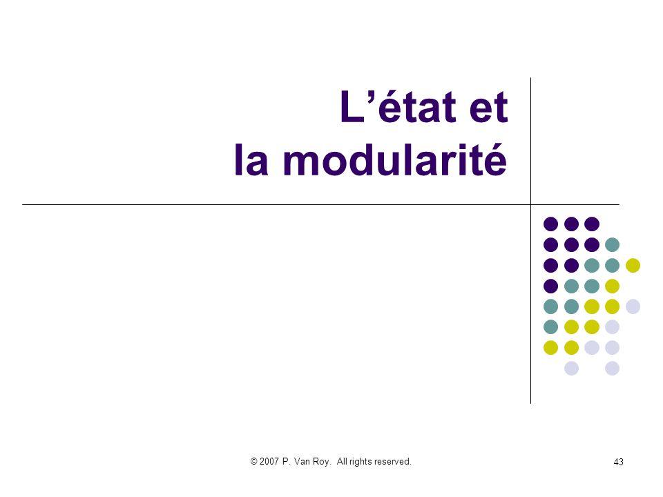 L'état et la modularité