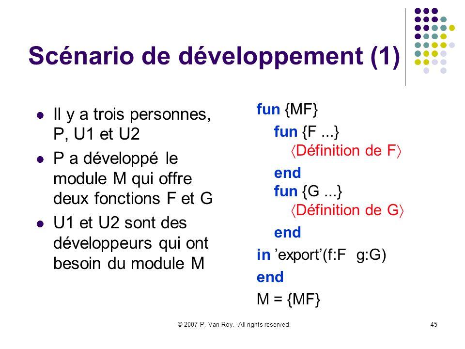 Scénario de développement (1)