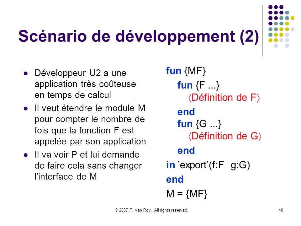 Scénario de développement (2)